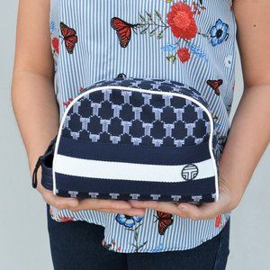 NWT Tory Burch LOGO Large Domed Cosmetic Bag